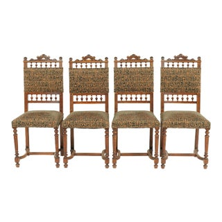 1880s French Henry II Dining Chairs - Set of 4