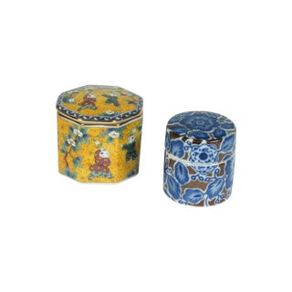Asian Trinket Boxes - Set of 2
