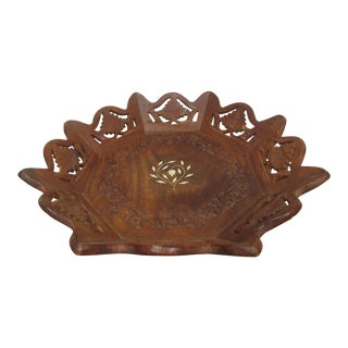 Carved Wood Inlay Tray