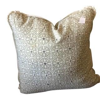 "China Seas ""Nitik II"" Gray Slate Pillow"