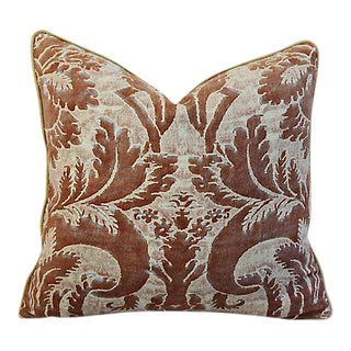 """24"""" x 22"""" Custom Tailored Italian Mariano Fortuny Glicine Feather/Down Pillow"""