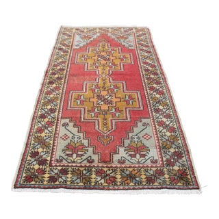 Turkish Oushak Tribal Wool Carpet Rug - 4′3″ × 8′3″