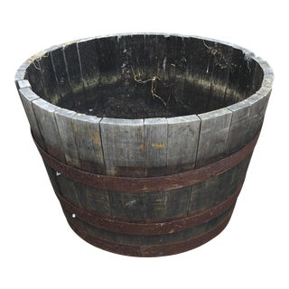 Oak Wine Barrel Half-Barrel Planter