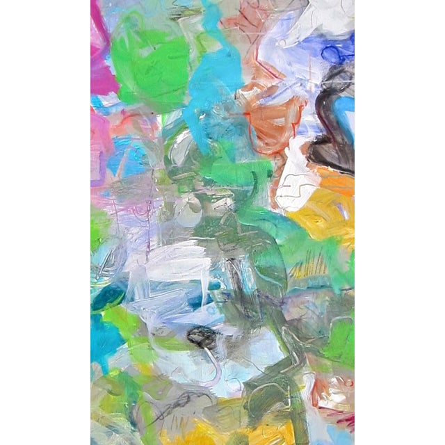 """Trixie Pitts """"Mardi Gras"""" Abstract Painting by Trixie Pitts - Image 3 of 4"""