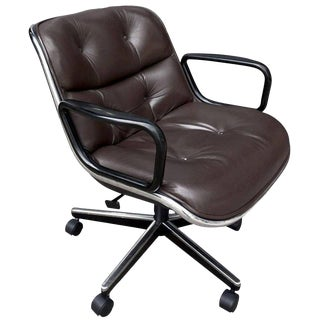 Mid-Century Charles Pollock Executive Chairs for Knoll