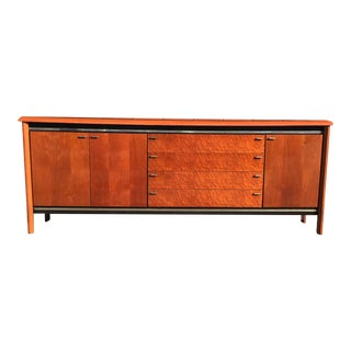 Burl Black and Chrome Credenza