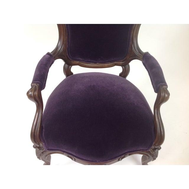 Antique Walnut Victorian Lounge Chair | Chairish