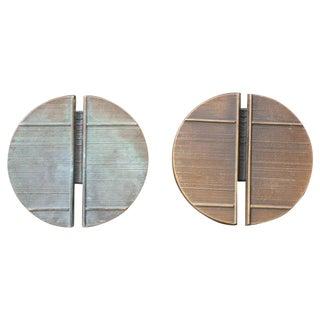 Pair of Large Bronze Door Handles