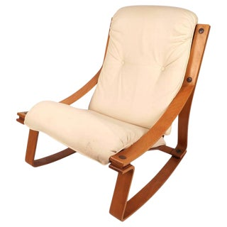 Stunning Mid-Century Modern Norwegian Rocking Chair by Westnofa
