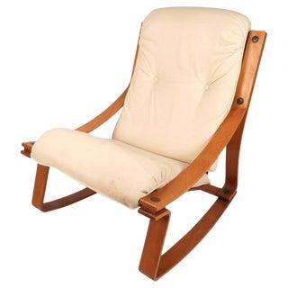Stunning Mid-Century Modern Norwegian Rocking Chair by Westnofa
