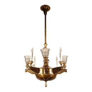 """""""BEARDSLEE"""" Beaux-Arts Gas/Electric Light Fixture (6-Light)"""