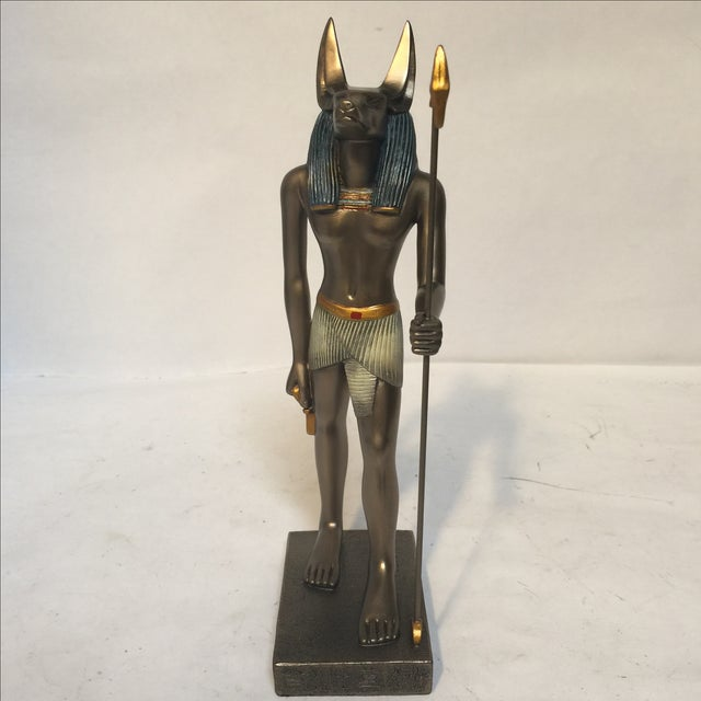 Egyptian Bronze Resin Sculpture - Image 2 of 8
