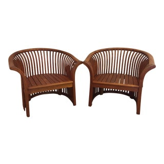 Bentwood Teak Chairs - A Pair