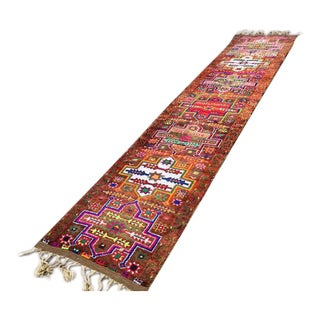 Vintage Hand Knotted Turkish Runner - 2′11″ × 14′5″