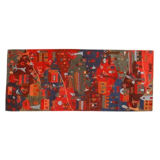 "Tibetan Folk Art Runner Rug - 2'6"" X 6'"