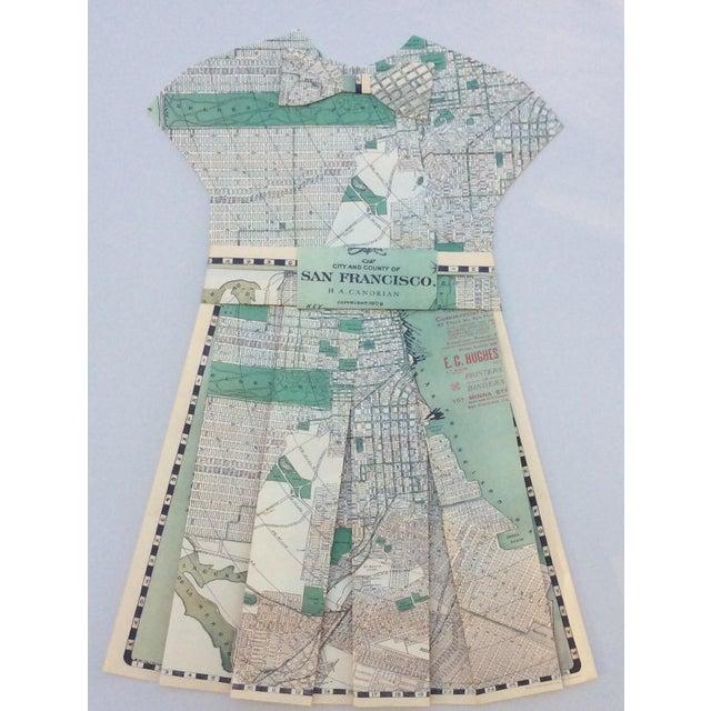 Framed 1903 San Francisco City Street Paper Art Dress - Image 3 of 5