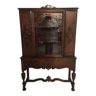 Antique Knechtel Wood China Cabinet