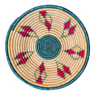 Vintage Tribal Style Straw Bowl