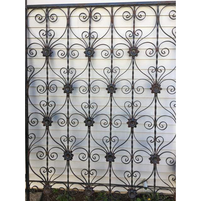 Antique Wrought Iron Decorative Wall Divider - Image 4 of 8