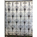 Image of Antique Wrought Iron Decorative Wall Divider