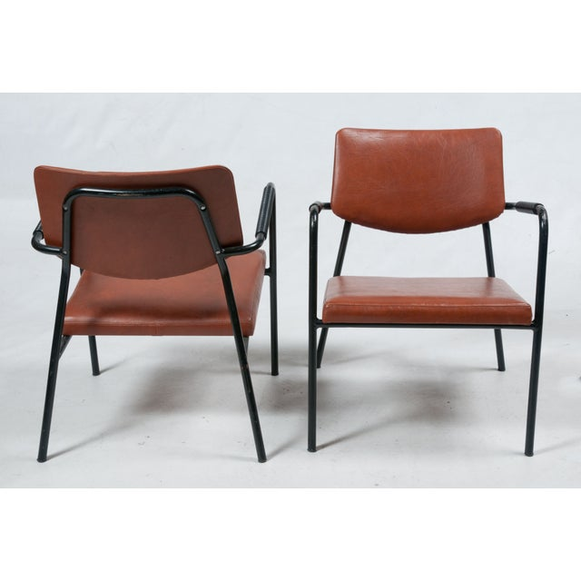 1950s Leather Armchairs - A Pair | Chairish