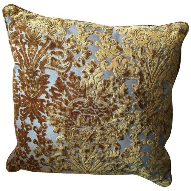 Barrow Velvet Damask Pillow - Image 3 of 7