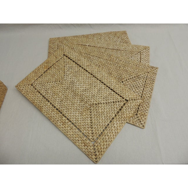 Vintage Seagrass Placemats - Set of 4 - Image 3 of 4