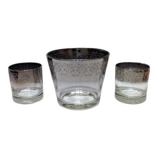 Mid-Century Silver Ombré Cocktail Set - Set of 3