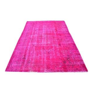 "Turkish Floor Pink Rug - 5'8"" X 8'4"""