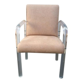 Acrylic and Leather Dining Chairs by Pace Collection - Set of 6