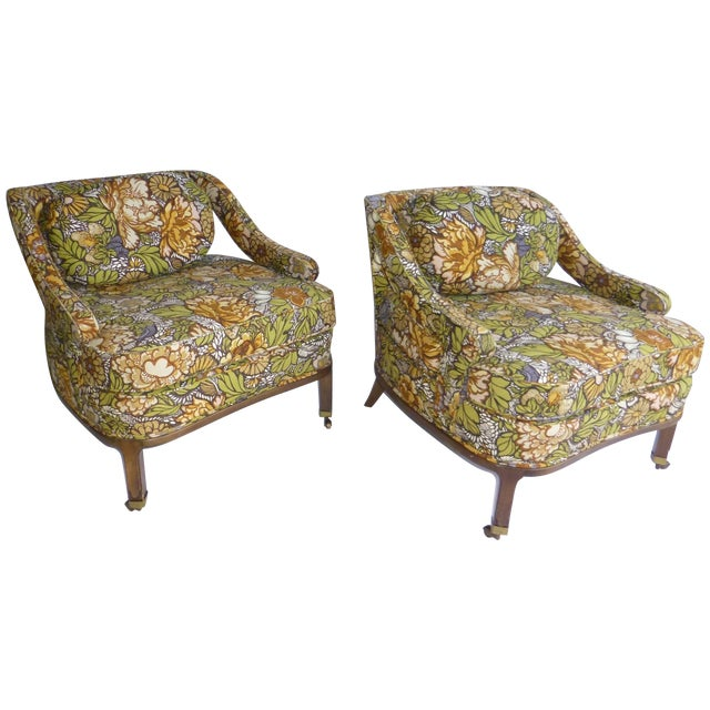 Mid Century Modern Club Chair - Pair - Image 1 of 10