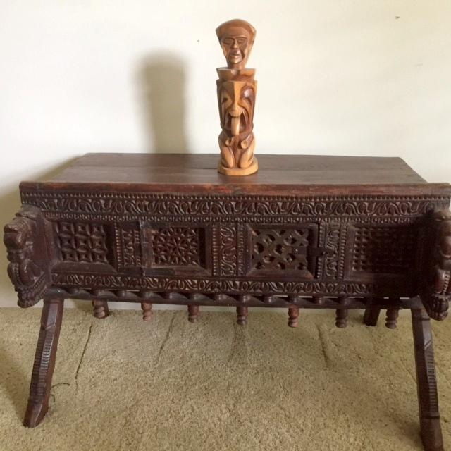 Antique Indian Wood Carved Sideboard - Image 10 of 10
