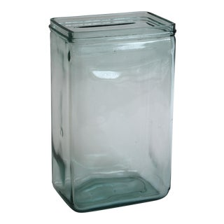 Aqua Glass Battery Jar