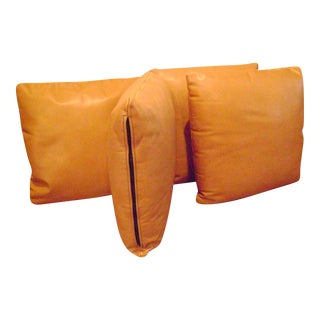 American Dark Caramel Throw Pillows - Set of 4