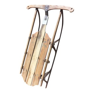Vintage Wood & Metal Runner Sled