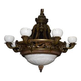 Antique chandelier, alabaster