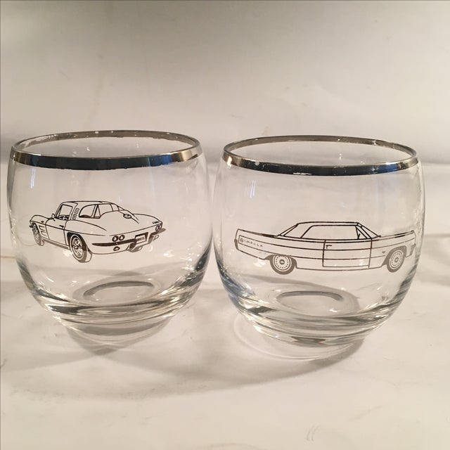 Image of Classic 60's Chevy Roly Poly Glasses - Set of 5