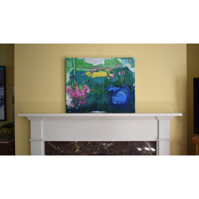 "Stephen Remick Abstract Painting, Garden Party Painting - 24"" X 30"" - Image 9 of 9"