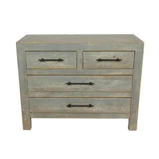 Distressed Gray 4-Drawer Chest