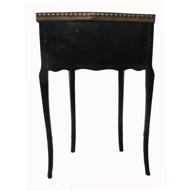 Image of Mid-Century Black Demilune Side Tables - A Pair