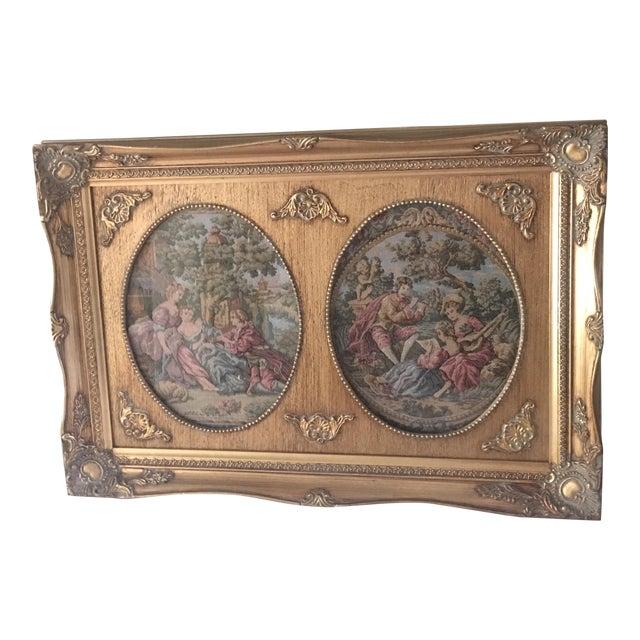 Image of Vintage Parisian Framed Tapestry