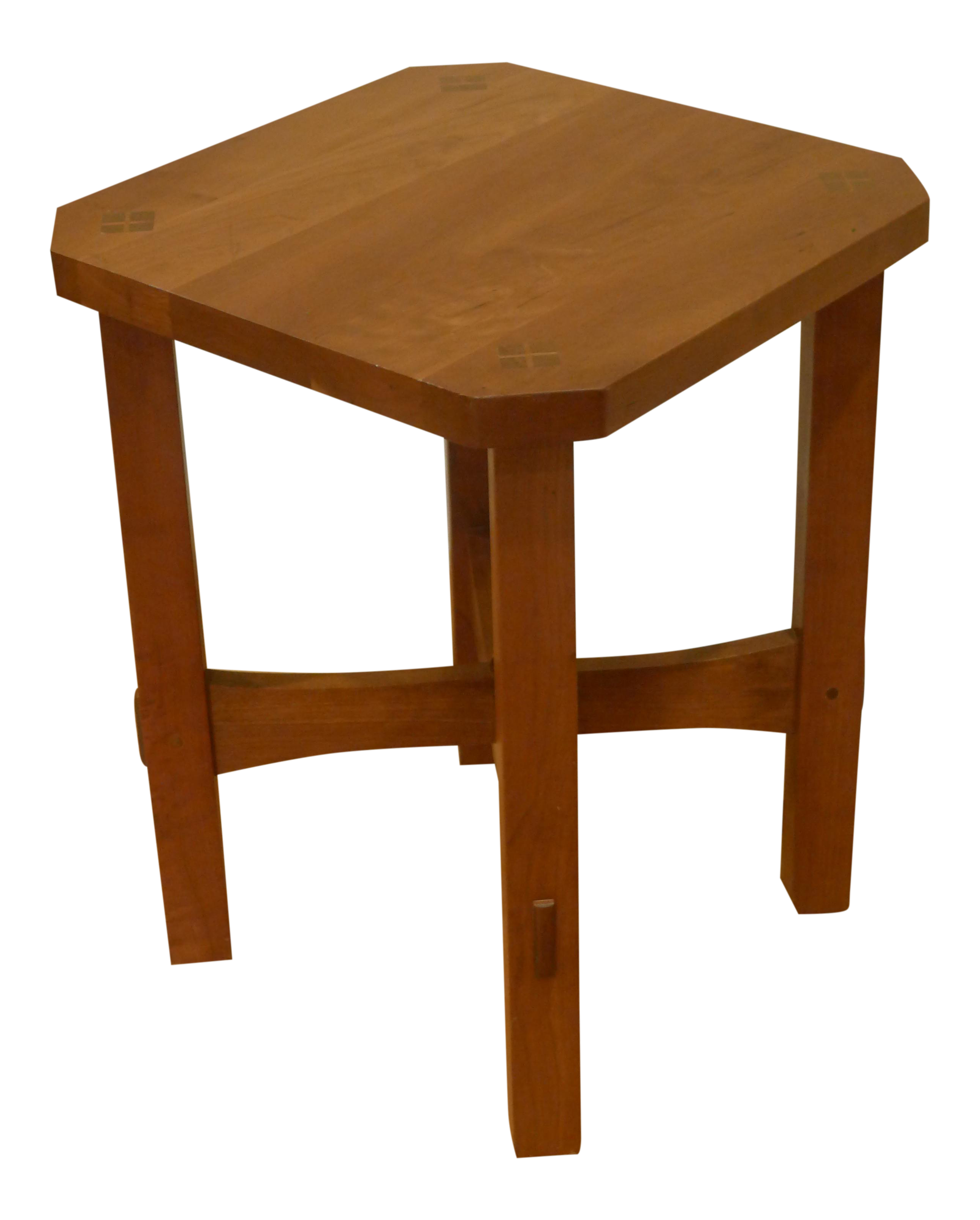 stickley mission cherry wood top tabouret table