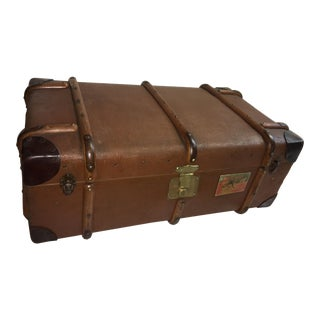 Old English Canvas & Wood Trunk