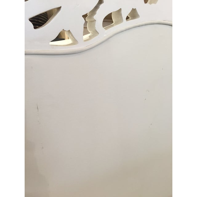 White Rococo Wingback Chairs - A Pair - Image 10 of 11