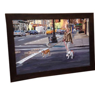 Framed Acrylic Painting on Canvas 'Life in the City'