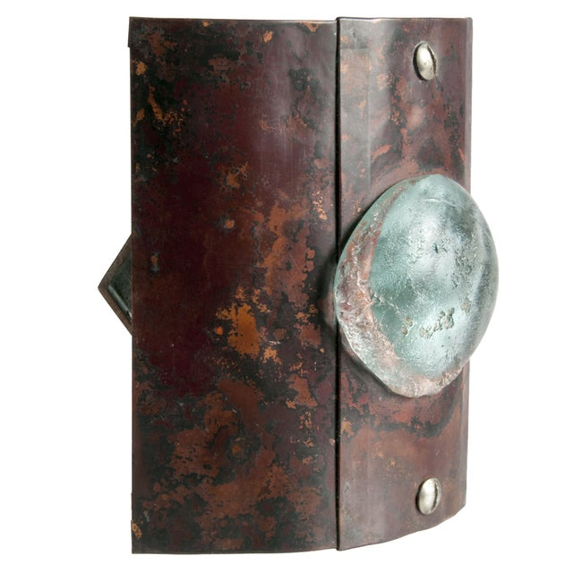 Reclaimed Copper & Glass Wall Sconce - Image 2 of 3