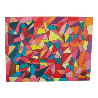 Colorful Geometric Abstract Expressionist Painting