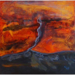 "Maureen A. Graves ""Rising"" Abstract Oil"