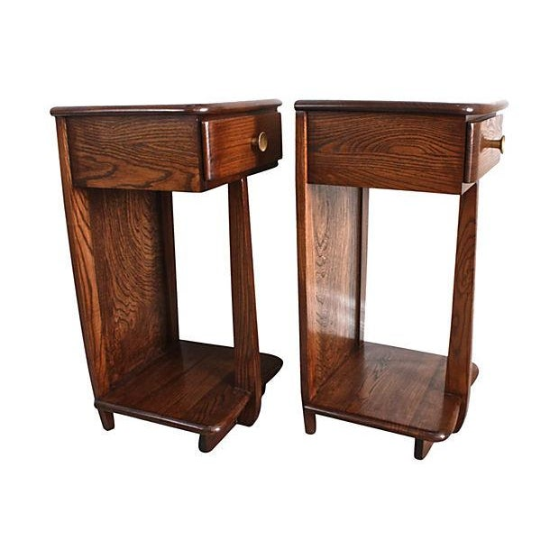 Early Mid-Century Modern Nightstands - A Pair - Image 4 of 6
