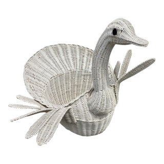 Large Wicker Swan Basket